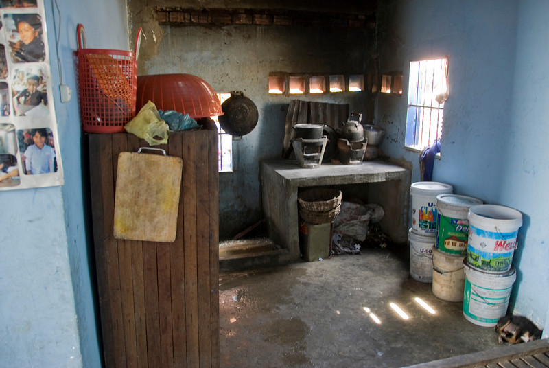 The kitchen inside the orphanage in Phnom Penh, Cambodia