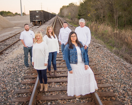 Railroad Themed Family Session