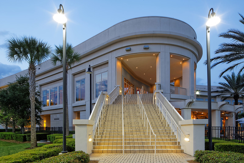 The Waldorf Astoria Orlando Convention Center at dusk