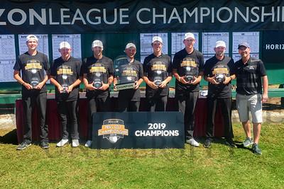 Mens Golf, Horizon League Champs 4-24-19