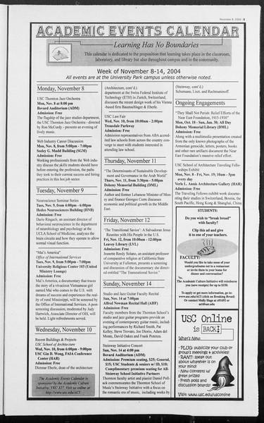 Daily Trojan, Vol. 153, No. 53, November 08, 2004