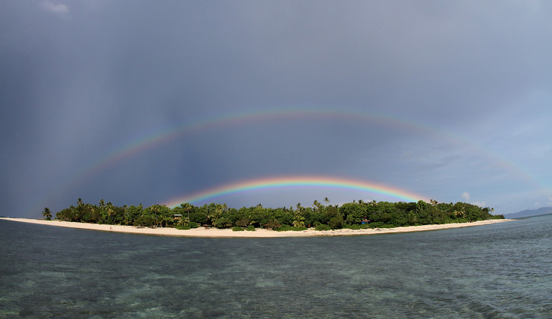 Double rainbow island