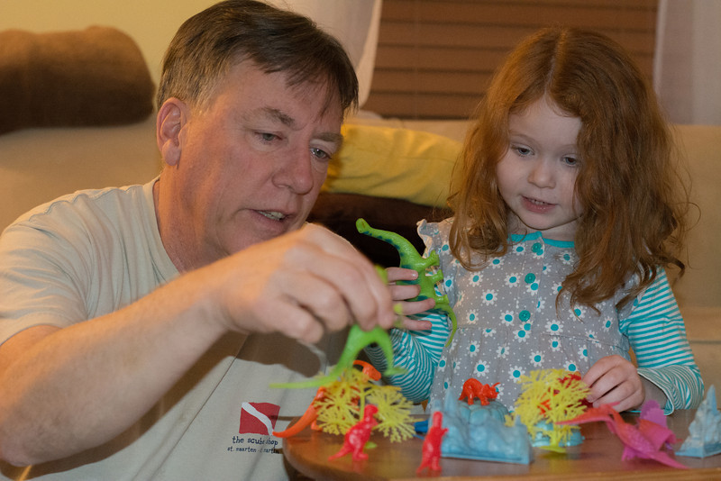 Ellie Dinosaurs & Cookies Jan 2014