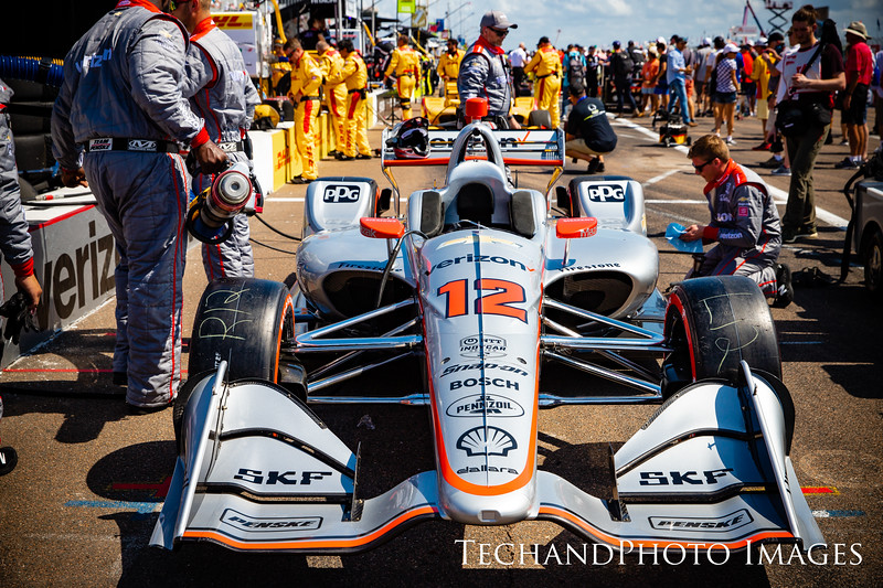 Will Powers car in pit lane pre race  at The Firestone Grand Prix of St Petersburg held on Sunday  March 10th