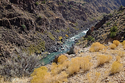 Rio Grande and Gorge Near Pilar