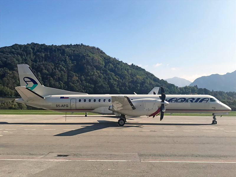 Saab 2000 (cn 2000-015) - Former HB-IZJ, first time at Lugano Airport in the new livery. This aircraft will operate the flight LUG-ZRH on behalf of SWISS. Photo M. Tisat Rihs