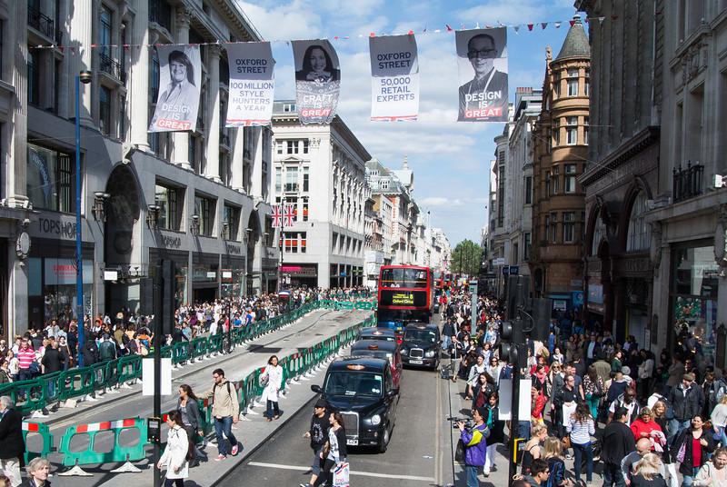 Shopping on Regent street.