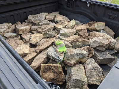 Rocks in the truck bed, Apr 25