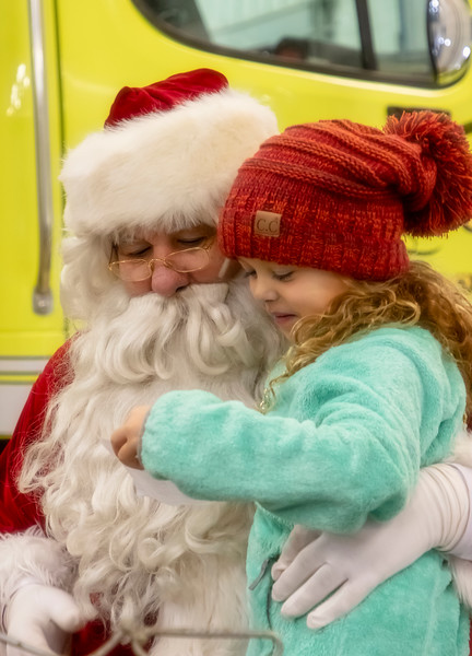 Santa Visits Monticello Fire Station