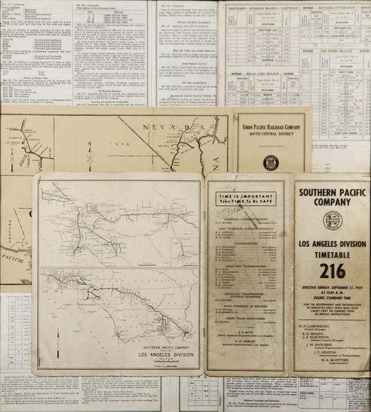 1959, Southen Pacific Timetables
