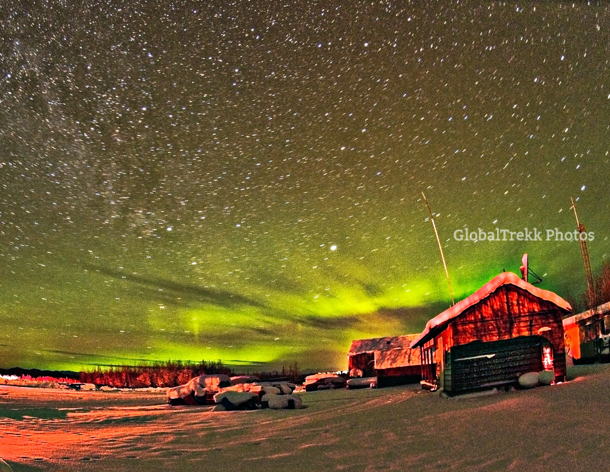 Bettles Alaska, Aurora Lights