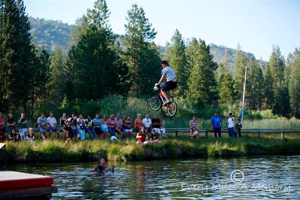 Lake Jumping at Hume Lake California