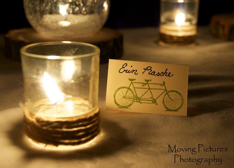 Erin & Matthew Wedding - Erin's new name on her notecard