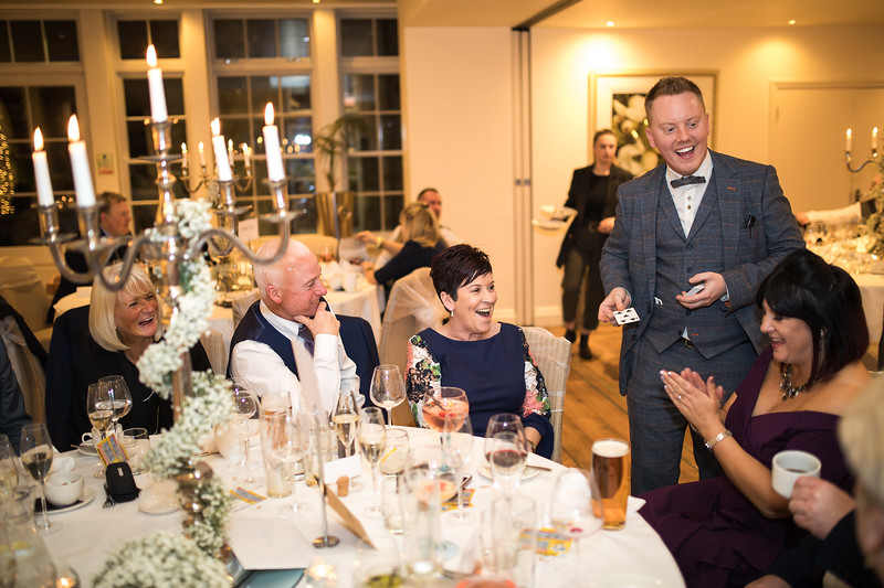 Magician at wedding in North West