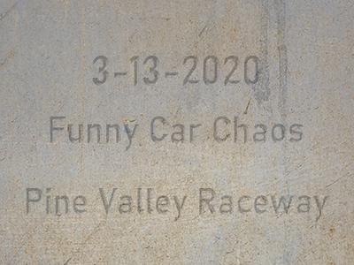3-13-2020 Pine Valley Raceway 'Funny Car Chaos'