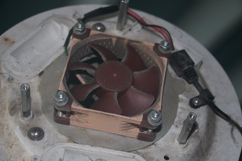 Condition of first case fan that failed
