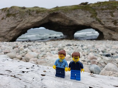 Lego selfie at Arches