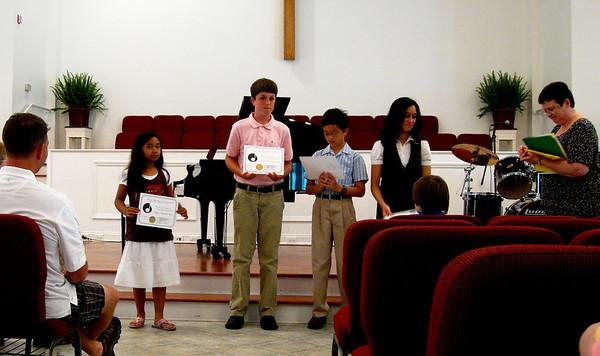 Summer piano recital awards