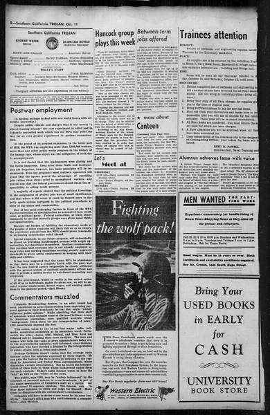 Southern California Trojan, Vol. 35, No. 43, October 11, 1943