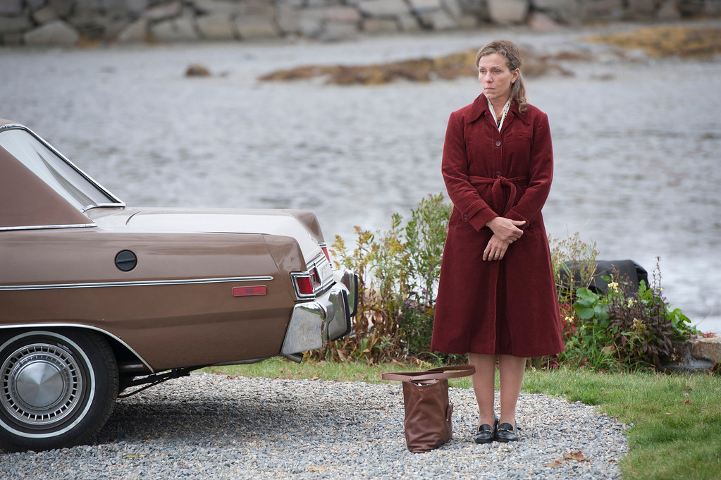 """. In this image released by HBO, Frances McDormand appears in a scene from \""""Olive Kitteridge.\"""" The show was nominated for a Golden Globe for best TV movie or mini-series on Thursday, Dec. 11, 2014. The 72nd annual Golden Globe awards will air on NBC on Sunday, Jan. 11. (AP Photo/HBO, Jojo Whilden)"""