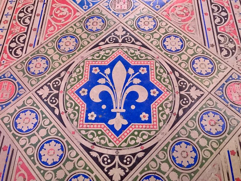 Tile floor inside Sainte-Chapelle