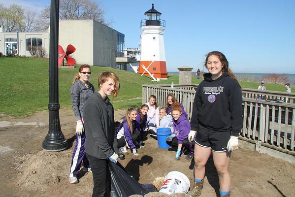 Vermilion's Track Team cleans up the Main Street Beach again ! April 26, 2014