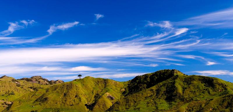 Hills and Clouds, Waiarapa Coast, New Zealand