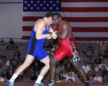 Greco-Roman Championships 120 Kg, Dremiel Byers (U.S. Army) def. Russ Davie (NYAC)