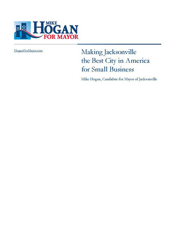 Mike Hogan for Mayor - White Paper