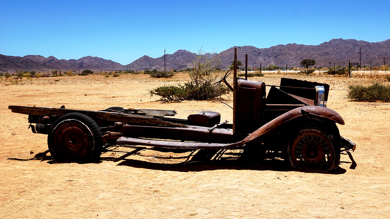 Vehicle Wrecks in Solitaire, Namibia