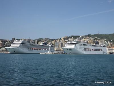 MSC SINFONIA & MSC MUSICA Genoa 5 Apr 2014
