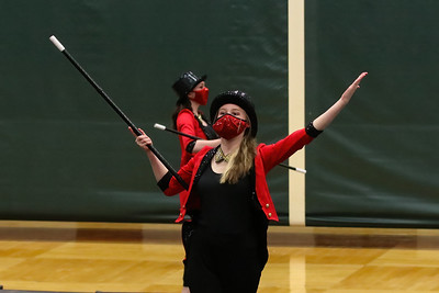 Clark Winter Guard at Central Cluster Exhibition - 4/1/21