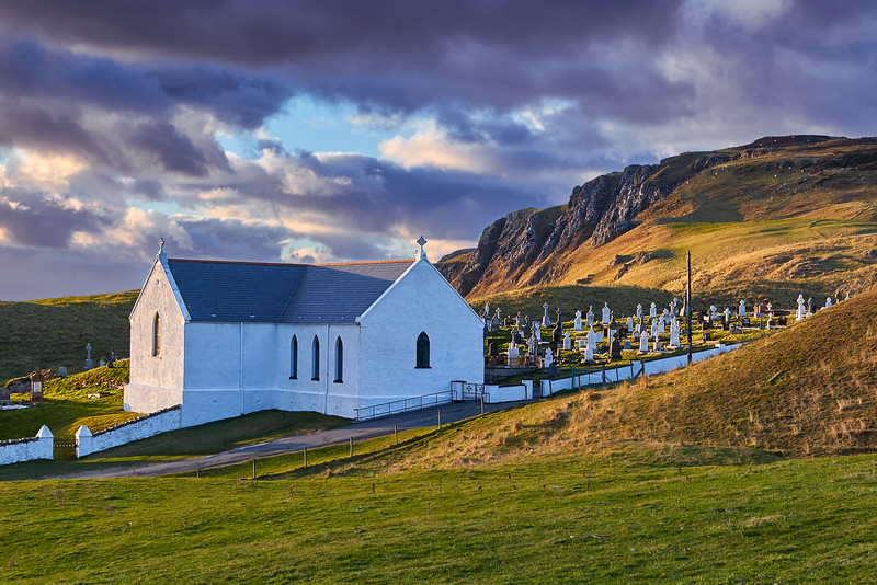 Sunset at Lagg Church, Donegal