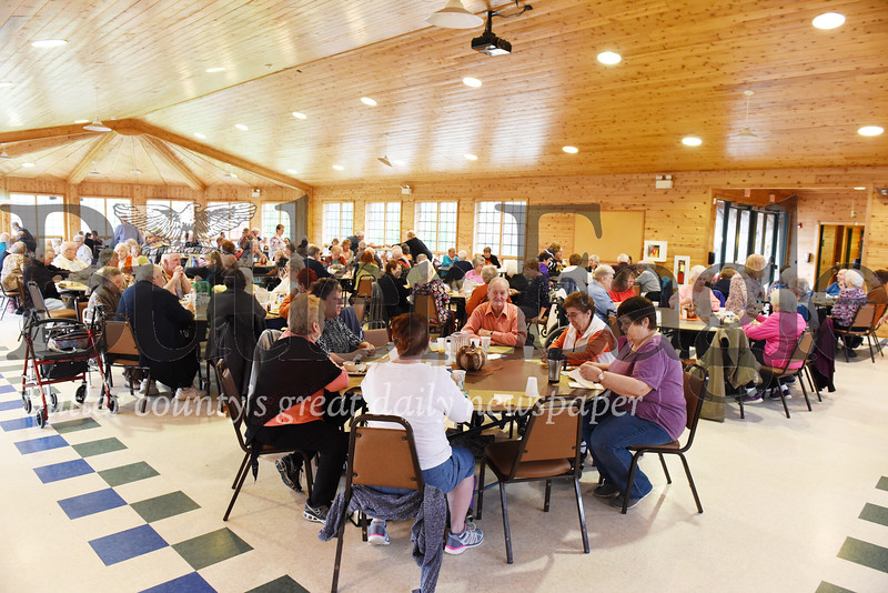 Harold Aughton/Butler Eagle: About 235 seniors from 7 of Butler County's Senior Citizen Centers gathered at YMCA Camp Kon-o-Kwee, Wed. Oct. 30 for the senior fall festival.