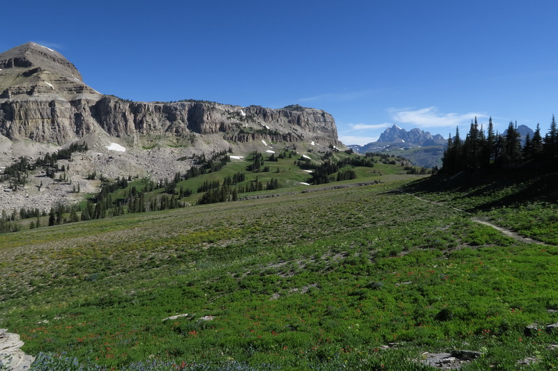 Fox Creek Pass and our first view of Grand Teton