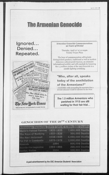 Daily Trojan, Vol. 154, No. 62, April 21, 2005