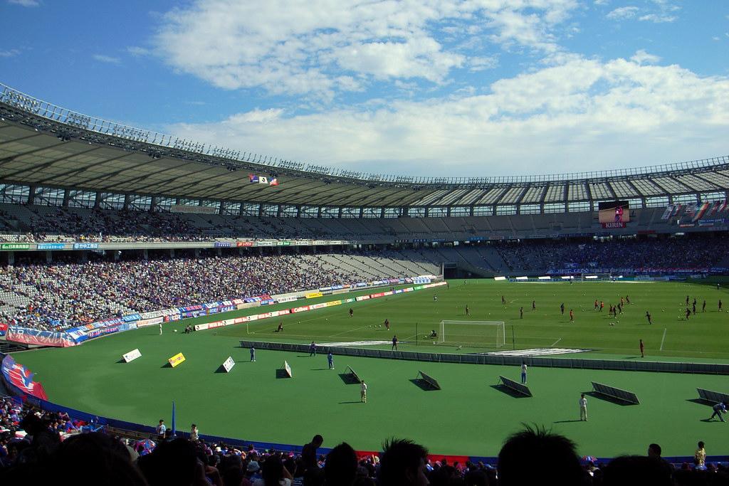 Inside Ajinomoto Stadium, to be renamed Tokyo Stadium.