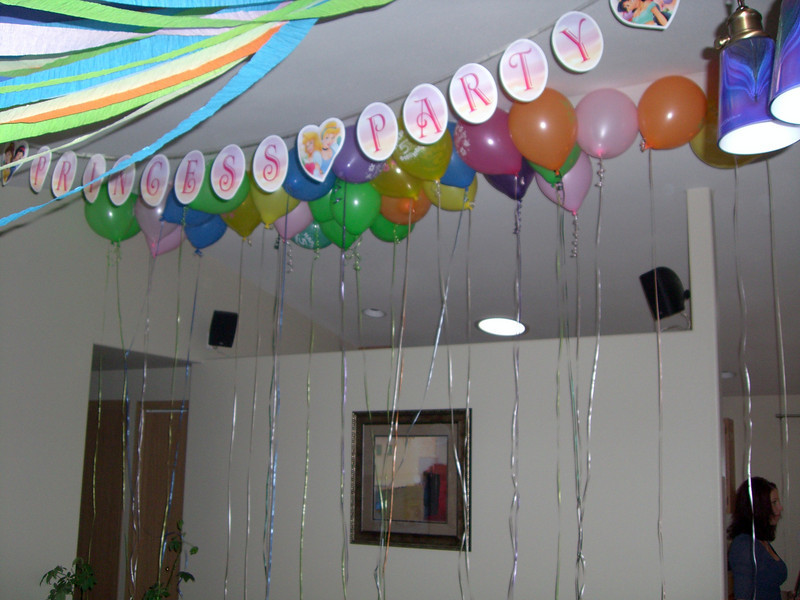 Balloons, streamers and the banner!