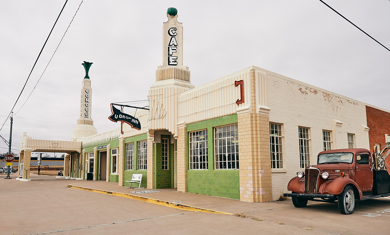 Route 66 - Conoco Tower, Shamrock, Texas