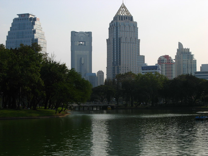 City from Lumphini Park.
