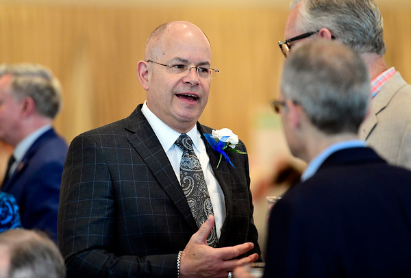 6/5/2019 Mike Orazzi | Staff Kurt Barwis, CEO and president of Bristol Hospital and E. Bartlett Barnes Distinguished Service Award winner, during the 130th Annual Awards Dinner held at the Aqua Turf Club in Southington Wednesday evening.