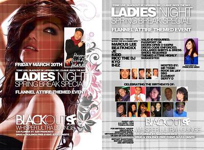 Ladies Night @ Whisper - 3.20.09