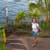 Maura on the Trail to the Hawaii Tropical Botanical Garden