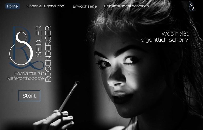 Corporate & Webdesign Foto/Text/Grafik für eine Kieferchirurgische Praxis