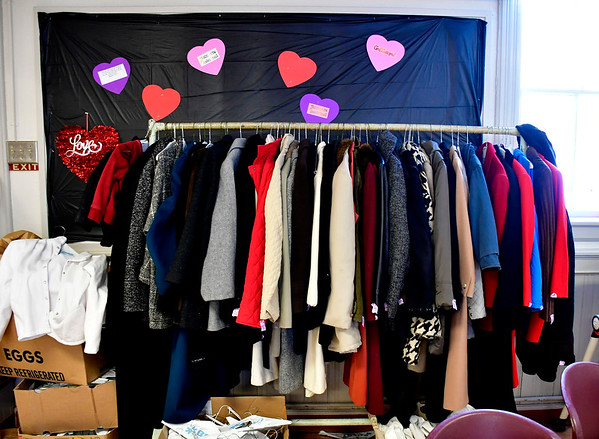 1/30/2019 Mike Orazzi | Staff Coats at the Bristol Salvation Army on Stearns Street on Wednesday.