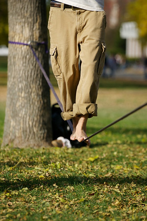Slacklining on the Mall