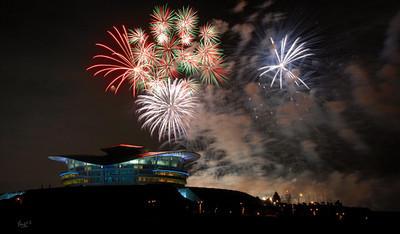 Fireworks at Putrajaya, KLCC