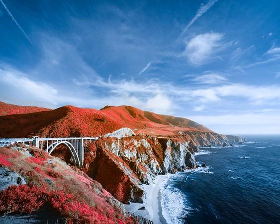 Bixby Creek Bridge in Infrared