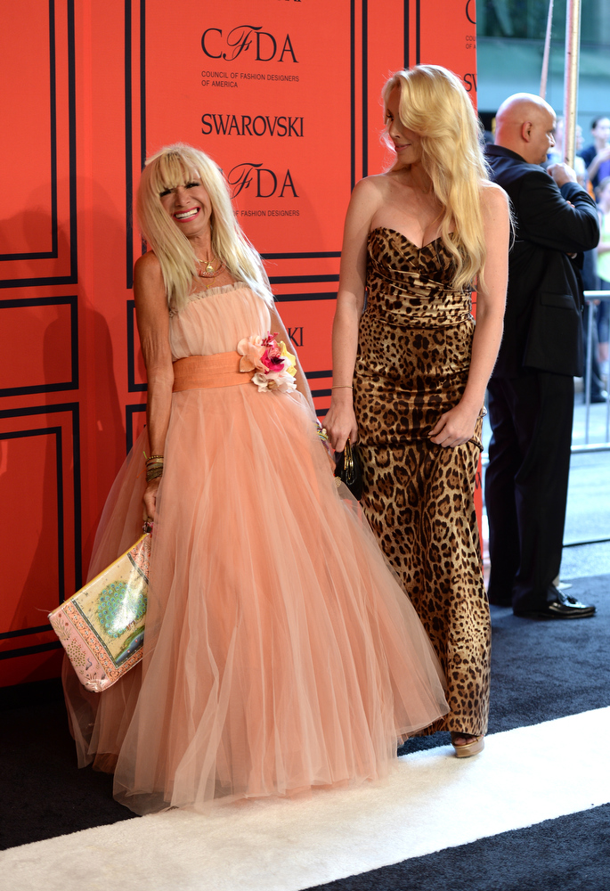. Betsey Johnson and Lulu Johnson attend 2013 CFDA Fashion Awards at Alice Tully Hall on June 3, 2013 in New York City.  (Photo by Andrew H. Walker/Getty Images)