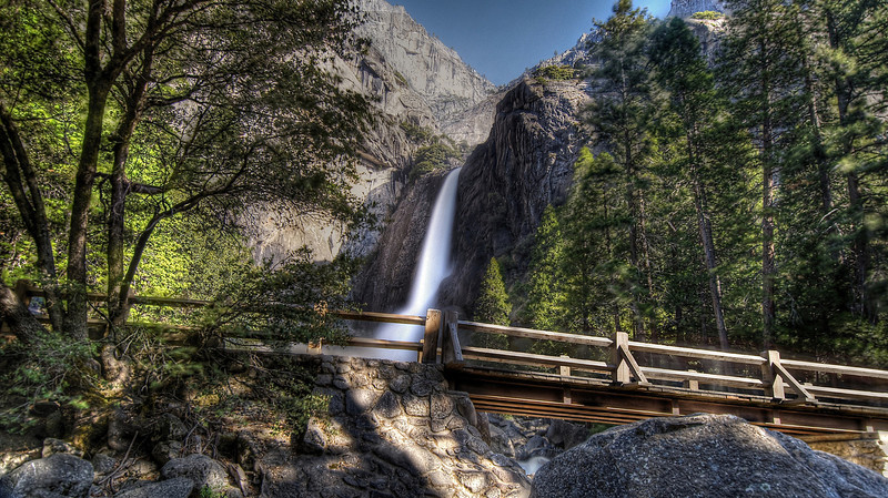 Foot of lower Yosemite Falls